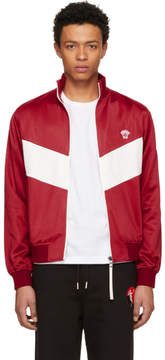 Versace Red and White Medusa Track Jacket