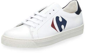 Anya Hindmarch Carrefour Leather Tennis Shoe, White
