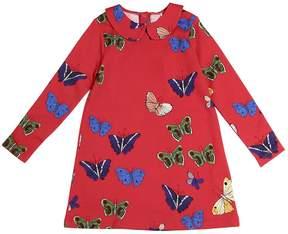 Mini Rodini Butterflies Cotton Sweatshirt Dress