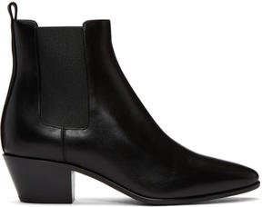 Saint Laurent Black Rock Chelsea Boots