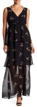 BCBGeneration Tiered Floral Maxi Dress