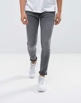 New Look Skinny Jeans In Gray Wash