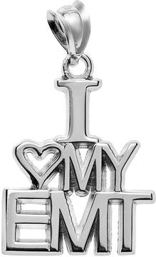 Insignia Collection Sterling Silver I Love My EMT Pendant