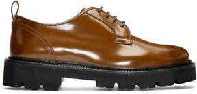 MSGM Brown Light Sole Derbys
