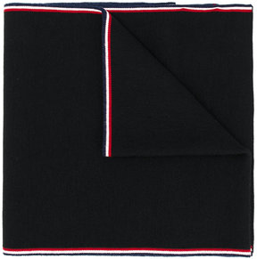 Moncler stripe trim knitted scarf