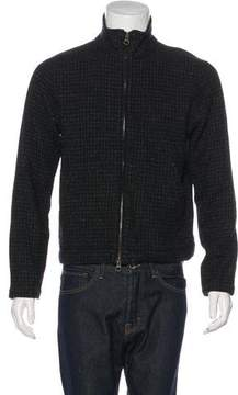 Billy Reid Wool-Blend Zip-Up Sweater