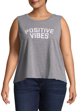 Fifth Sun Positive Vibes Tank - Juniors Plu