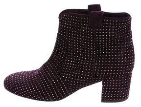 Laurence Dacade Suede Stud-Embellished Booties