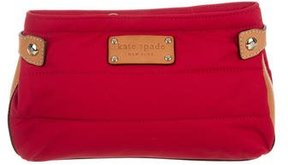 Kate Spade Leather-Trimmed Quilted Clutch - RED - STYLE