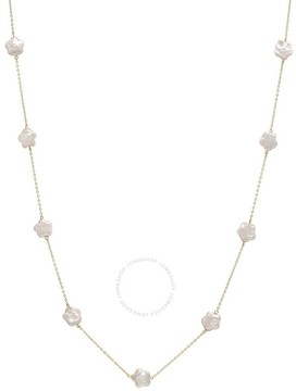 Bella Pearl 10K Gold Floating Pink Coin Pearl Necklace
