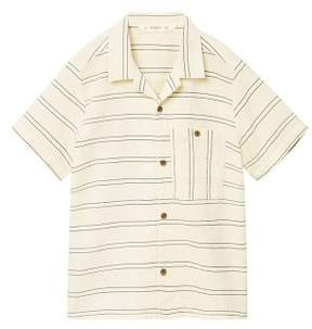MANGO Striped cotton linen shirt