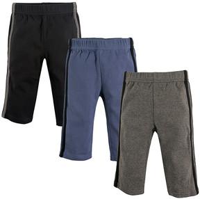 Hudson Baby Black & Blue Track Pants Set - Newborn
