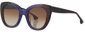 Alice + Olivia Mercer Cat-Eye Acetate Sunglasses
