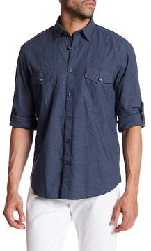 James Campbell Carbon Checked Long Sleeve Regular Fit Shirt