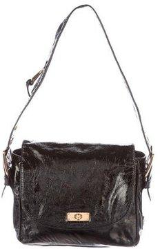 Marc Jacobs Patent Leather Flap Bag - BLACK - STYLE