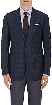 Giorgio Armani Men's Soft Plaid Wool Two-Button Sportcoat
