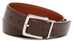 Cole Haan Rounded Edge Pinch Loop Genuine Leather Belt