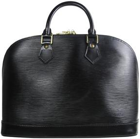 Louis Vuitton Alma leather satchel - BLACK - STYLE