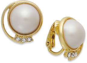Charter Club 14k Gold-Plated Plastic Pearl Dome Earrings