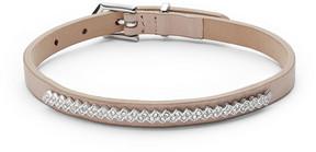 Fossil Glitz Nude Leather Bracelet