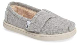 Toms Classic - Tiny Herringbone Faux Shearling Lined Slip-On