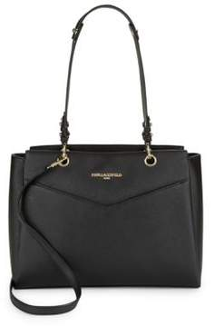 Karl Lagerfeld Textured Leather Tote
