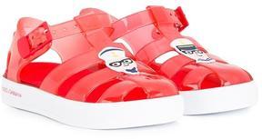 Dolce & Gabbana Kids designer's patch jelly shoes