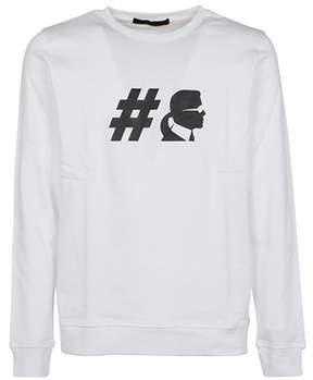 Karl Lagerfeld Men's 50099910 White Cotton Sweatshirt.