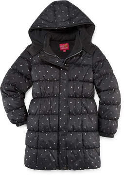 Pink Platinum Heavyweight Star Puffer Jacket - Girls-Big Kid
