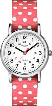 Timex Womens Weekender Pink TW2P65300C Watch One Size Pink/white