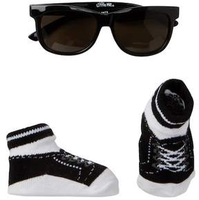 Little Me Black Sunglasses with Matching Booties Set (Baby Boys)