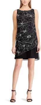 Chaps Petite Floral Georgette Sheath Dress