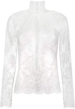 Bella Freud lady jane sheer lace blouse