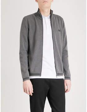 BOSS GREEN Zip-up cotton-blend jacket