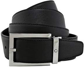 Montblanc Black Westside Leather Belt