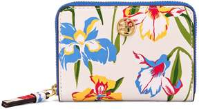Tory Burch ROBINSON FLORAL COIN CASE - PAINTED IRIS - STYLE