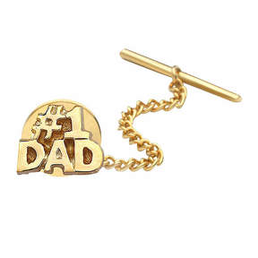Asstd National Brand #1 Dad Gold-Plated Tie Tack