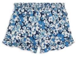 Ralph Lauren Little Girl's Floral Ruffled Shorts