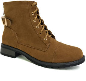 Bamboo Cognac Battle Boot - Women