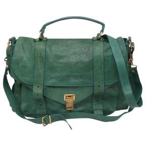 Proenza Schouler PS1 Green Leather Handbag