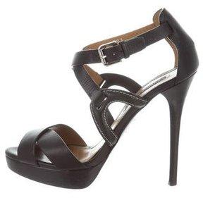 Ralph Lauren Crossover Platform Sandals