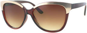 Kay Unger Brown Heather Cat-Eye Sunglasses