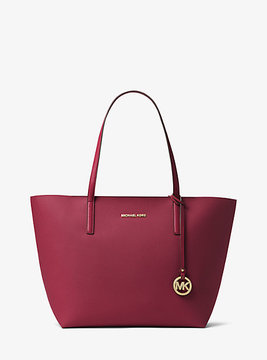 Michael Kors Hayley Large Coated Canvas Tote - PURPLE - STYLE