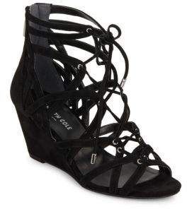 Kenneth Cole Dylan Suede Cage Wedge Sandals