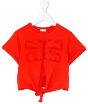 Elisabetta Franchi La Mia Bambina tie-front T-shirt