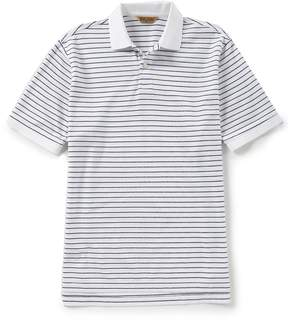 Roundtree & Yorke Gold Label Big & Tall Short-Sleeve Stripe Polo