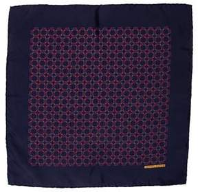Hermes Silk Rope Print Pocket Square