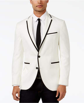 Kenneth Cole New York Classic-Fit White with Black Slim Dinner Jacket