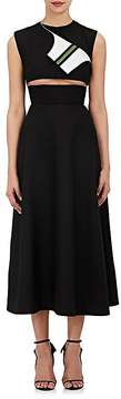 CALVIN KLEIN 205W39NYC Women's Cutout Wool Fit & Flare Dress