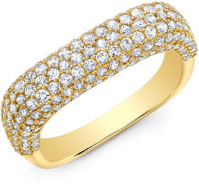 Anne Sisteron Luxe Diamond Square Ring in Yellow Gold, Size 3